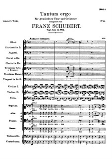 Tantum ergo in Es-Dur, D.962: Vollpartitur by Franz Schubert