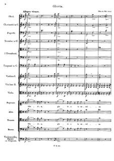 Messe Nr.1 in F-Dur, D.105: Gloria by Franz Schubert