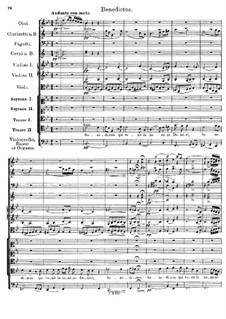 Messe Nr.1 in F-Dur, D.105: Benedictus by Franz Schubert