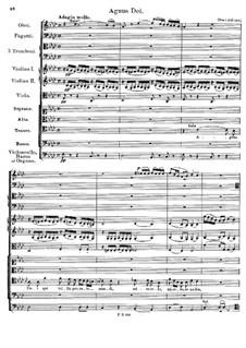 Messe Nr.1 in F-Dur, D.105: Agnus Dei by Franz Schubert