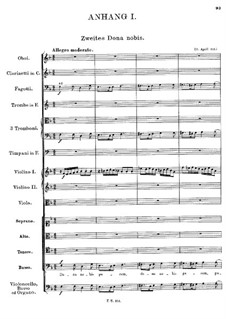 Messe Nr.1 in F-Dur, D.105: Dona nobis pacem II (Anhang I) by Franz Schubert