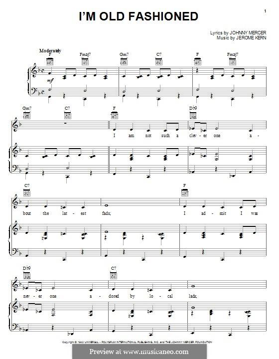 I'm Old Fashioned: Für Stimme und Klavier (oder Gitarre) by Jerome Kern