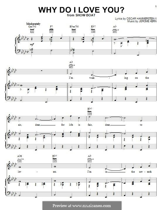 Why do I Love You?: Für Stimme und Klavier (oder Gitarre) by Jerome Kern
