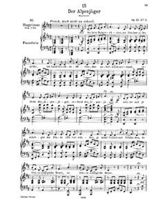 Der Alpenjäger, D.524 Op.13 No.3: Klavierauszug mit Singstimmen by Franz Schubert