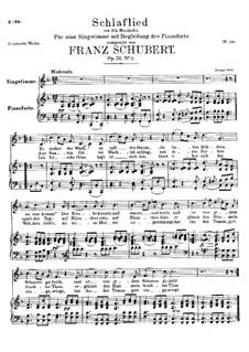 Schlaflied (Schlummerlied), D.527 Op.24 No.2: F-Dur by Franz Schubert
