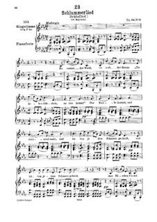 Schlaflied (Schlummerlied), D.527 Op.24 No.2: Auf Deutsch by Franz Schubert
