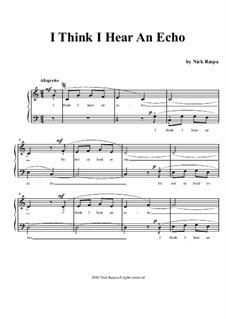 I Think I Hear An Echo: Für Klavier by Nick Raspa