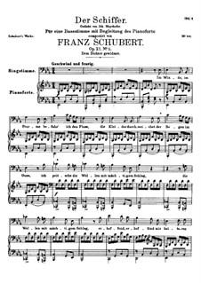 Der Schiffer, D.536 Op.21 No.2: Für hohe Stimme und Klavier by Franz Schubert