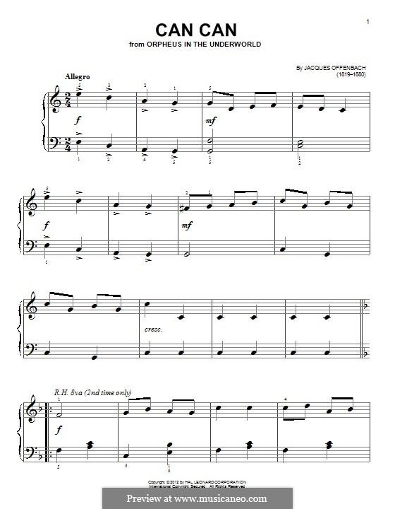 Cancan: Für Klavier by Jacques Offenbach
