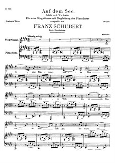 Auf dem See, D.543 Op.92 No.2: E-Dur by Franz Schubert