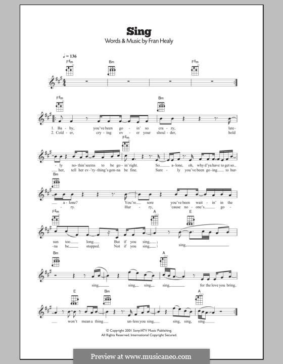 Sing (Travis): Für Ukulele by Fran Healy