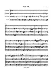 Fuge in B für Gamben Consort: Fuge in B für Gamben Consort by Bernhard Vass