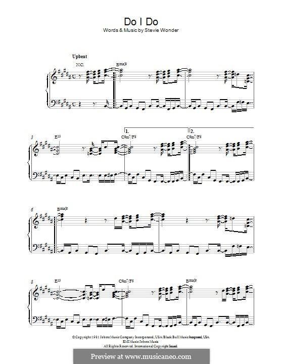 Do I Do: Für Klavier by Stevie Wonder