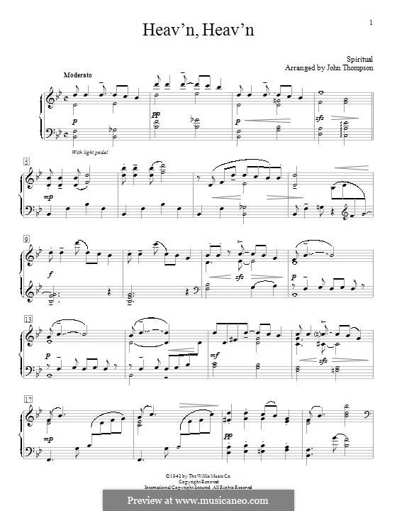Heav'n, Heav'n: Für Klavier by folklore