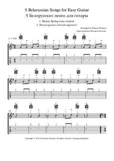 5 Belarussian Songs for Easy Guitar: 5 Belarussian Songs for Easy Guitar by folklore
