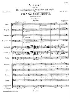 Messe Nr.3 in B-Dur, D.324 Op.141: Kyrie by Franz Schubert