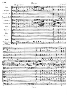 Messe Nr.3 in B-Dur, D.324 Op.141: Gloria by Franz Schubert