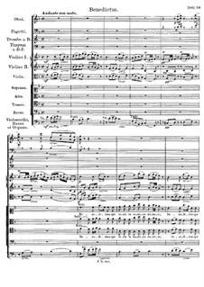 Messe Nr.3 in B-Dur, D.324 Op.141: Benedictus by Franz Schubert