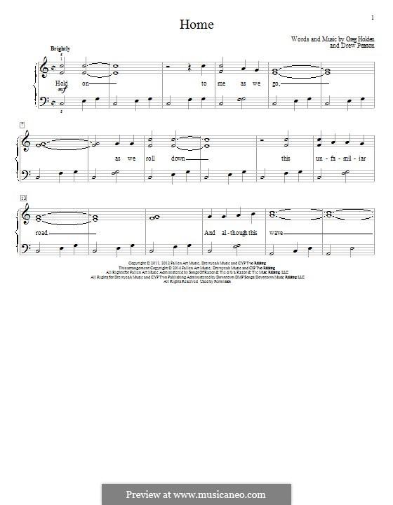 Home: Für Klavier by Greg Holden, Drew Pearson
