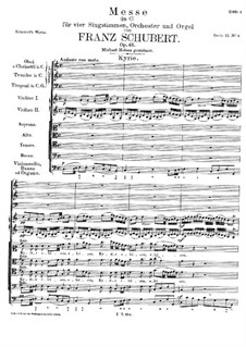 Messe Nr.4 in C-Dur, D.452: Kyrie by Franz Schubert