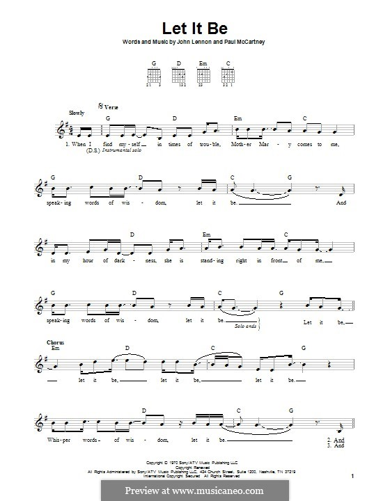 Let it Be (The Beatles): Für Gitarre mit Tabulatur by John Lennon, Paul McCartney