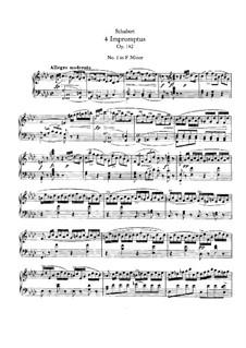 Vier Impromptus für Klavier, D.935 Op.142: Vollsammlung by Franz Schubert