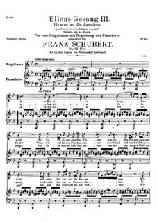 Ave Maria, D.839 Op.52 No.6: Für Stimme und Klavier in B-Dur (Deutscher Text) by Franz Schubert