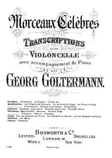 Ave Maria, für Zwei Instrumente, D.839 Op.52 No.6: Für Cello und Klavier in C-Dur– partitur by Franz Schubert