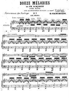 Ave Maria, für Zwei Instrumente, D.839 Op.52 No.6: Für Flöte und Klavier by Franz Schubert