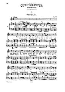 Vollständiger Zyklus: Klavierauszug mit Singstimmen by Franz Schubert