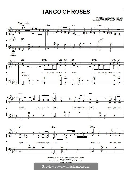 Tango of Roses: Für Akkordeon by Vittorio Mascheroni