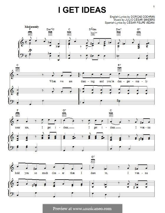 I Get Ideas: Für Stimme und Klavier (oder Gitarre) by Julio Cesar Sanders
