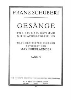 Lieder für Stimme und Klavier: Band IV, Teil I by Franz Schubert
