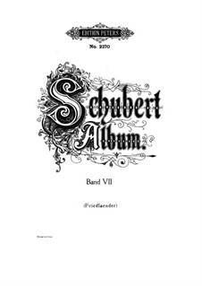 Lieder für Stimme und Klavier: Band VII, Teil I by Franz Schubert