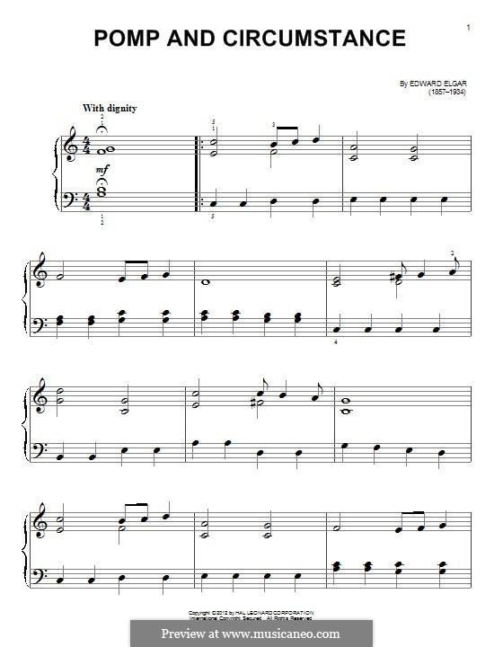 Pomp and Circumstance: Für Klavier by Edward Elgar