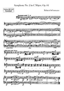 Sinfonie Nr.2 in C-Dur, Op.61: Cello- und Kontrabass-Stimme by Robert Schumann