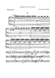 Sinfonie Nr.2 in c-Moll, Op.29: Cellostimmen by Alexander Skrjabin