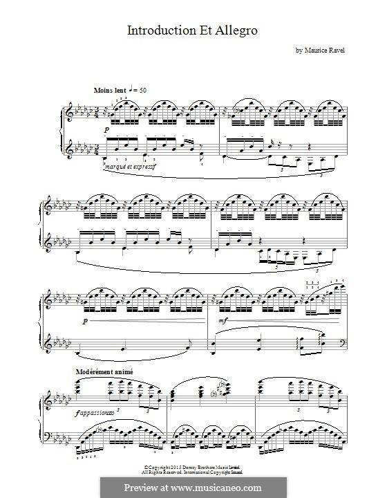 Introduktion und Allegro, M.46: Für Klavier by Maurice Ravel