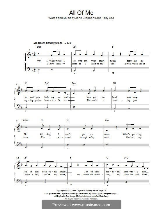 All of Me: Für Klavier by John Stephens, Tobias Gad