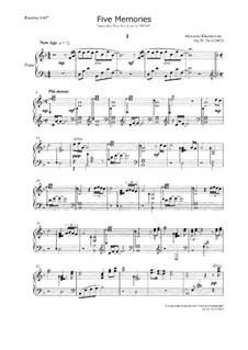 Five Memories, Op.38 No.1: Five Memories by Alexander Khodakovsky