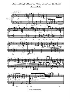 Turandot: Nessun Dorma, piano transcription by Giacomo Puccini