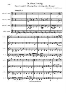 In einen Harung: Für Klarinettenquartette by folklore, David W Solomons
