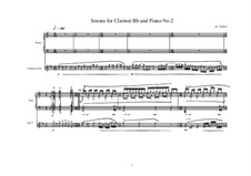 Sonata for Bb clarinet No.2, MWVW 631: Sonata for Bb clarinet No.2 by Maurice Verheul