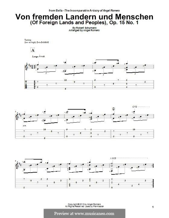 Nr.1 Von fremden Ländern und Menschen: Für Gitarre by Robert Schumann