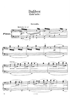 Dalibor, B.133 T.96: Akt II. Antrakt, für Klavier, vierhändig by Bedřich Smetana