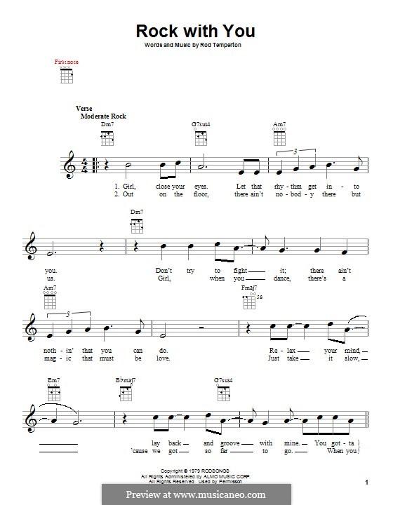 Rock with You (Michael Jackson): Für Gitarre by Rod Temperton