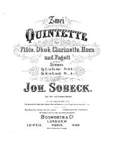 Quintett für Blasinstrumente in Es-Dur, Op.11: Flötenstimme by Johann Sobeck