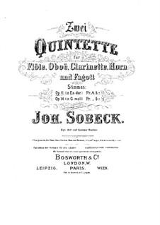 Quintett für Blasinstrumente in Es-Dur, Op.11: Stimmen by Johann Sobeck