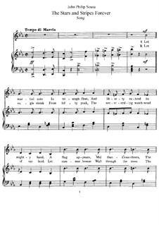Stars and Stripes Forever : Für Stimme und Klavier by John Philip Sousa