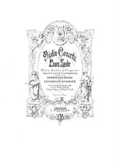Konzert für Violine und Orchester Nr.11 in G-Dur, Op.70: Konzert für Violine und Orchester Nr.11 in G-Dur by Louis Spohr